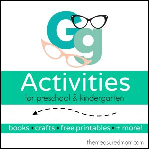 Letter G Activities - the measured mom