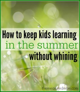How to organize summer learning activities for kids
