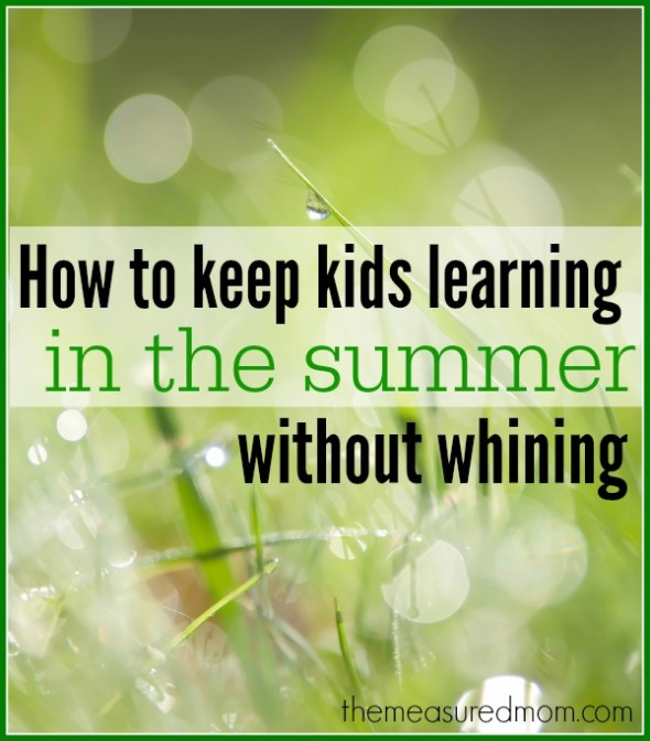 keep kids learning in the summer