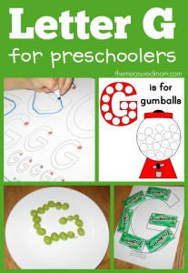 Fun ways to make the letter G