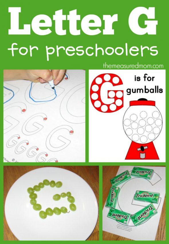 letter G for preschoolers
