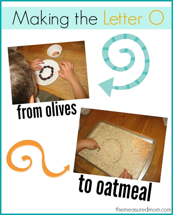 Creative Ways To Write Letters creative ways to make the letter o - the measured mom