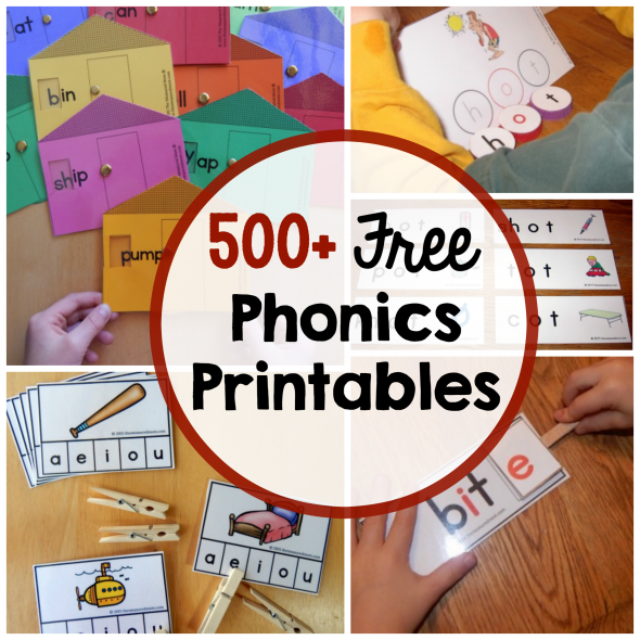 over 500 free phonics printables for teaching reading love these phonics activities and games