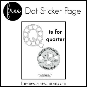 Free letter Q Printable: Q is for Quarter