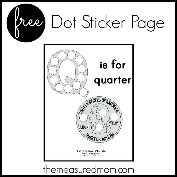 photograph relating to Letter Q Printable named Cost-free letter Q Printable: Q is for Quarter - The Calculated Mother