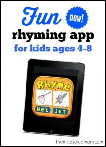 Fun new rhyming app for kids!