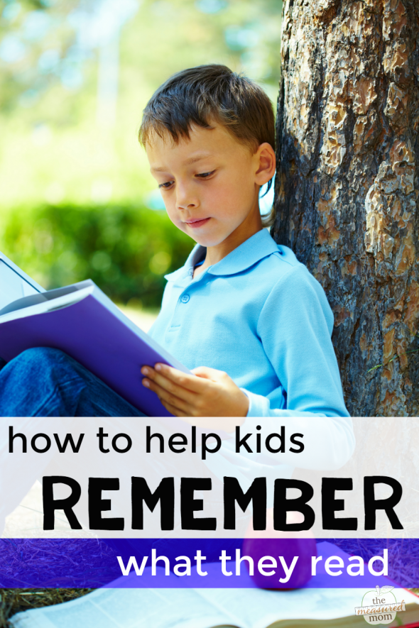 A reading comprehension strategy to help kids remember what
