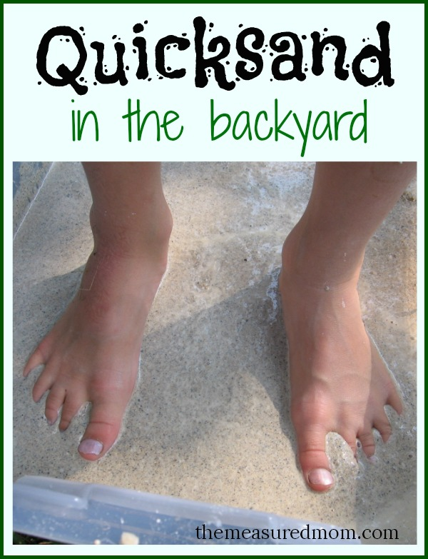 quicksand in the backyard