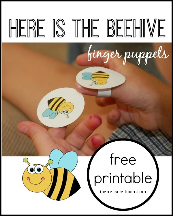 bee paper hand puppet template here is the beehive rhyme for with finger puppets 5934