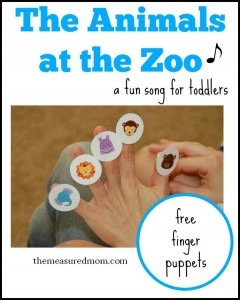 An Animal Sound Song with free finger puppets