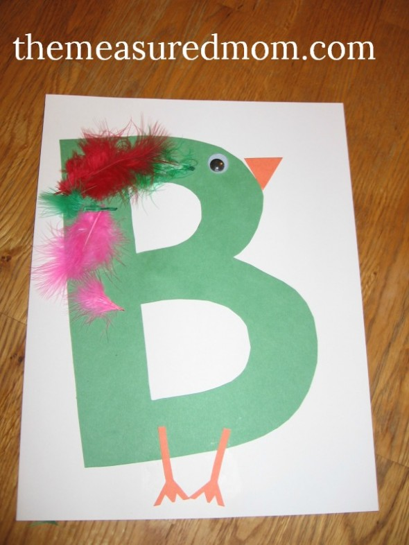Letter B Art Projects For Preschoolers The Measured Mom
