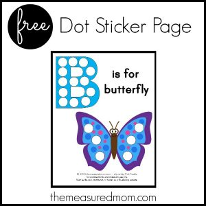 B is for Butterfly – free printable