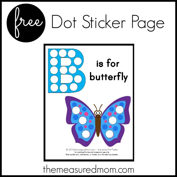 Print this free B is for Butterfly printable to help your little one learn the shape and sound of letter B.