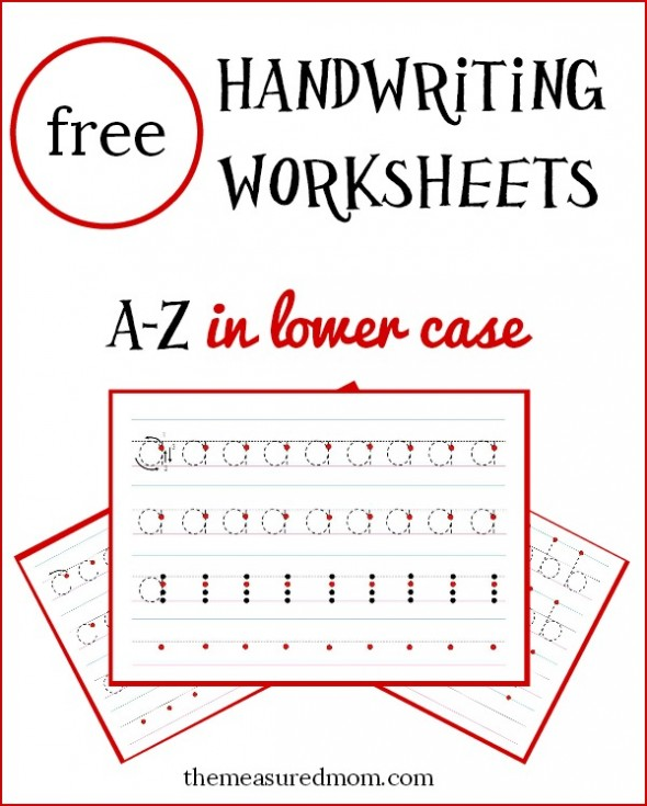 Free lowercase handwriting worksheets on four lines! - The ...
