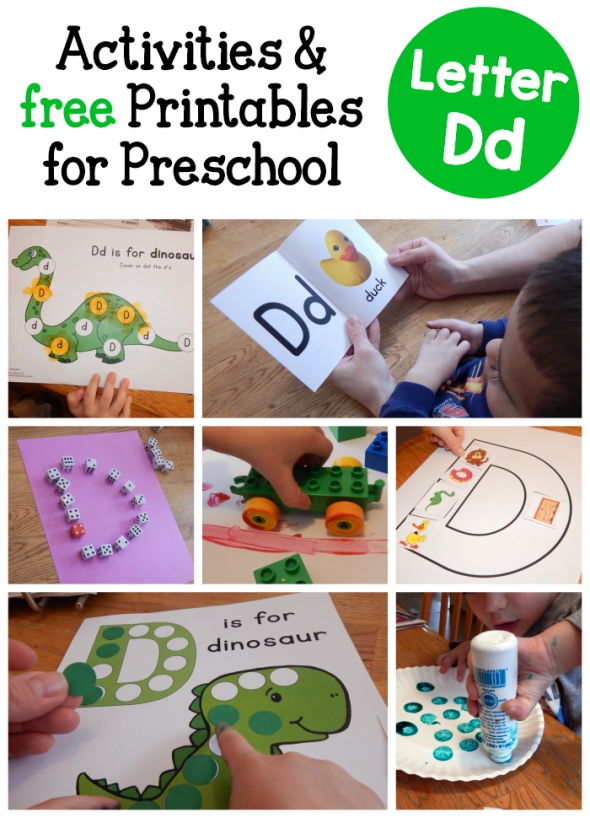 letter D activities for preschool