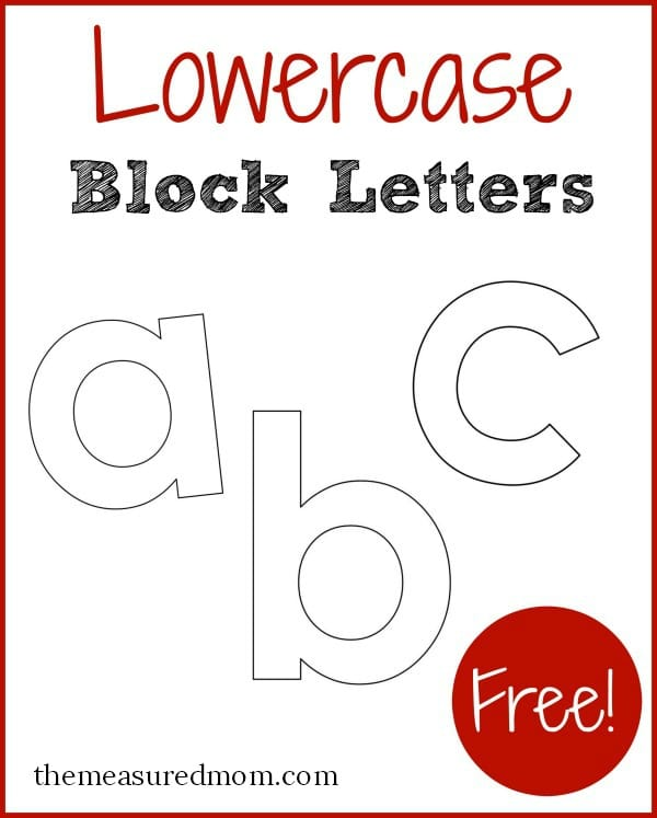 Free printable letters in lowercase!   The Measured Mom