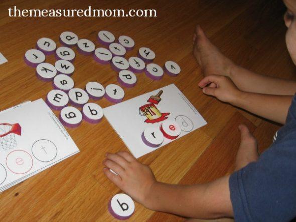 milk cap spelling mats for short e words 2
