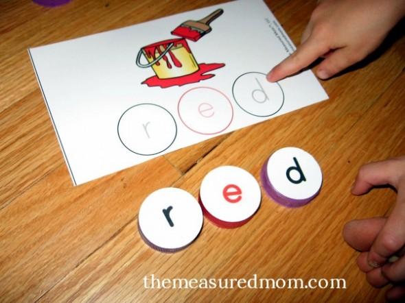 milk cap spelling mats for short e words 4