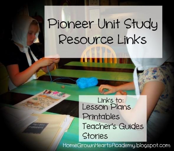 pioneer unit study