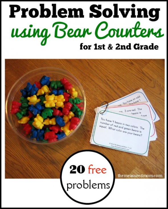 Looking for a fun problem solving activity? Print these 20 free problem solving cards for first and second grade. Great for centers!