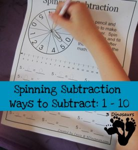 Creative subtraction worksheets and more