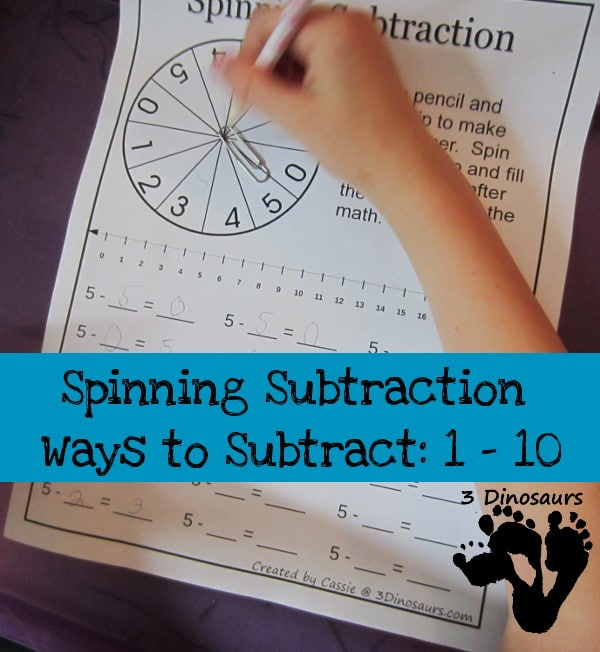 Creative subtraction worksheets and more - The Measured Mom