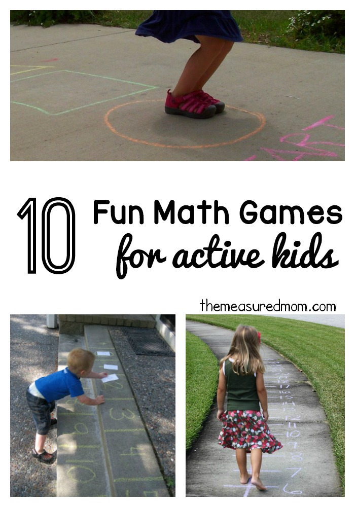 10 Fun Math Games For Active Kids The Measured Mom