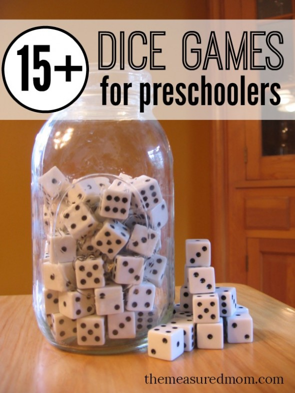 image about Dice Bag Printable Pattern called Cube Video games for Preschoolers - The Calculated Mother