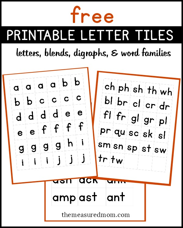 image about Letter Tiles Printable identify Cost-free printable letter tiles for digraphs, blends, and phrase