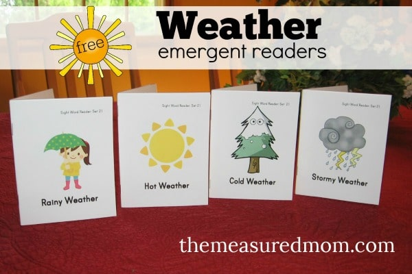 free weather emergent readers