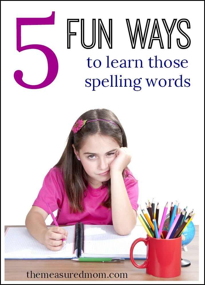 fun ways to learn spelling words