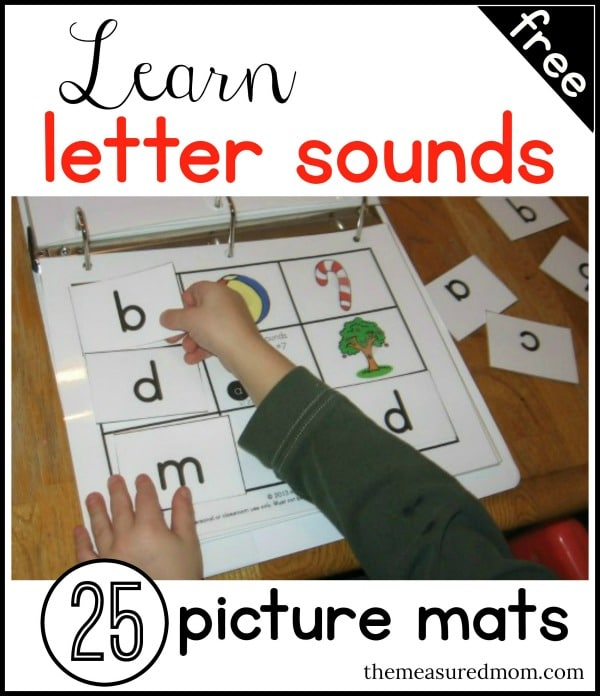 Learn Letters And Sounds With 25 Free Picture Mats The