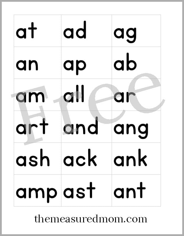 free printable letter tiles for digraphs, blends, and word endings