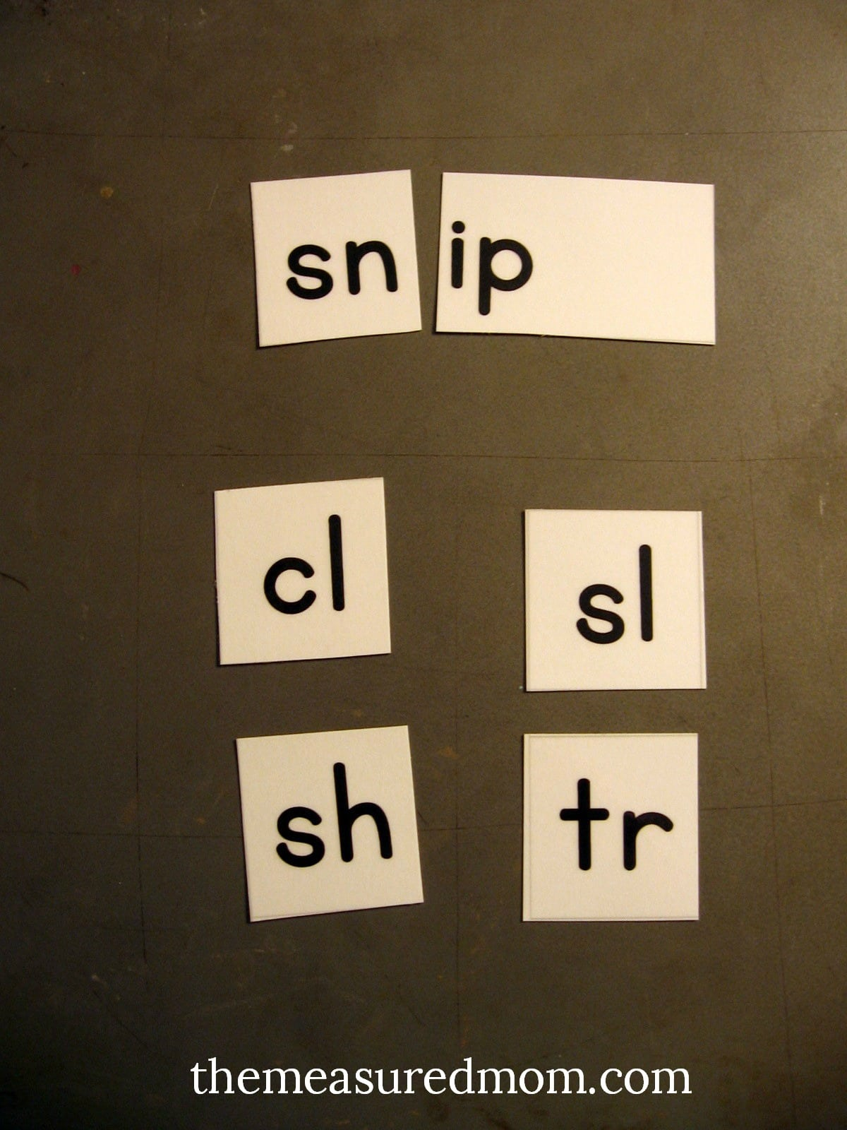Get these free printable letter tiles for making words!