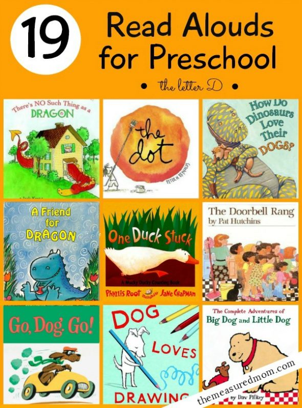 19 books for preschoolers a letter d book list the With letter books for preschool