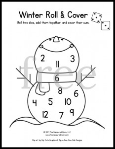 image about Kindergarten Math Games Printable called 20 no cost roll and protect video games - The Calculated Mother
