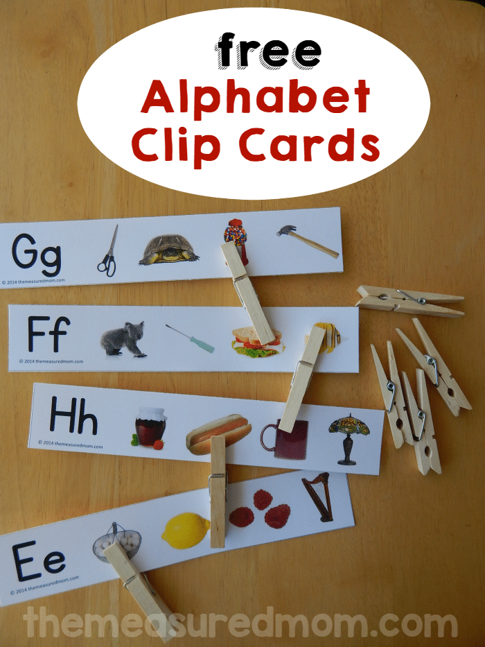 Print these free clip cards for a great letter sound activity!