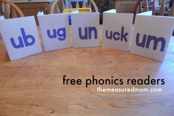 free easy readers for short u complete set