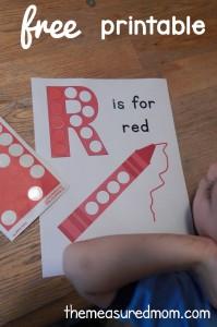 Free Letter R Printable