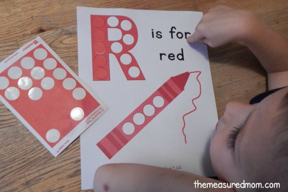 Get this free letter R printable, plus a link to get a printable for EVERY letter in one easy download!