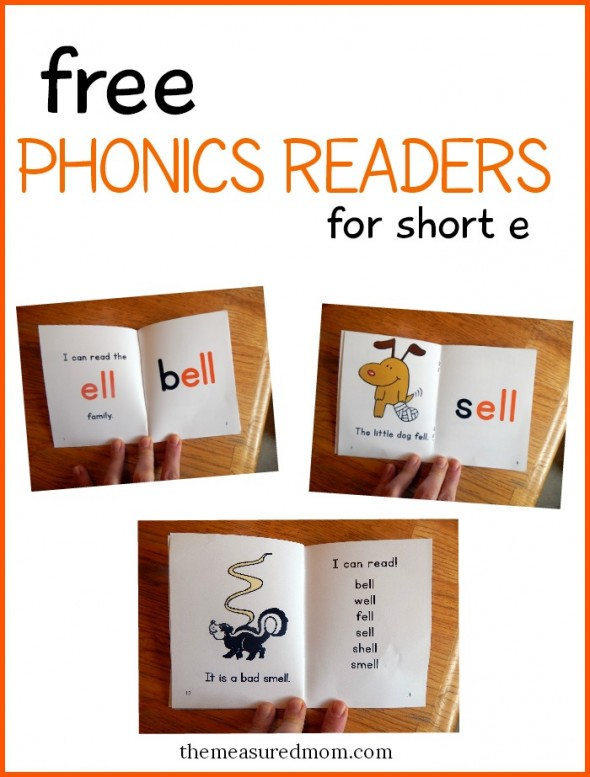Read short e words with these free phonics books! (set 4