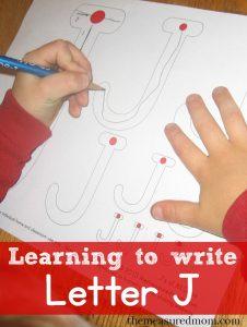 Writing Letter J