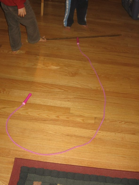 letter J with jumprope