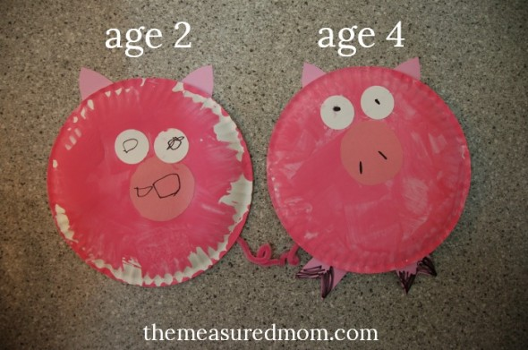 Paper Plate Pigs & Letter P Crafts - The Measured Mom
