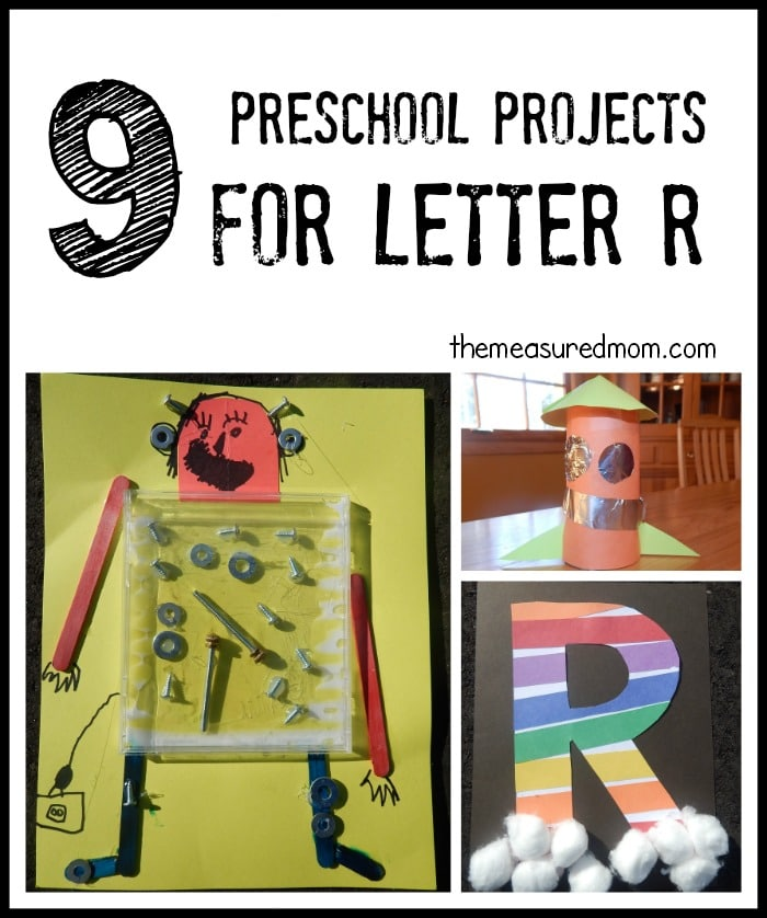 We've got such a great variety of letter R crafts and art projects for preschool!