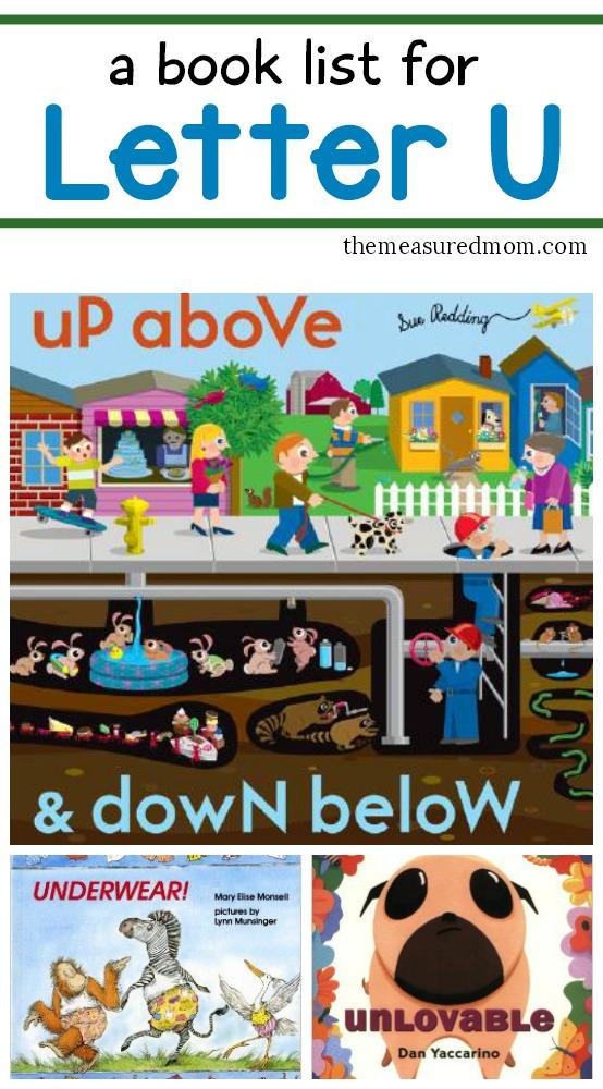 book list for preschoolers letter u books the measured 580
