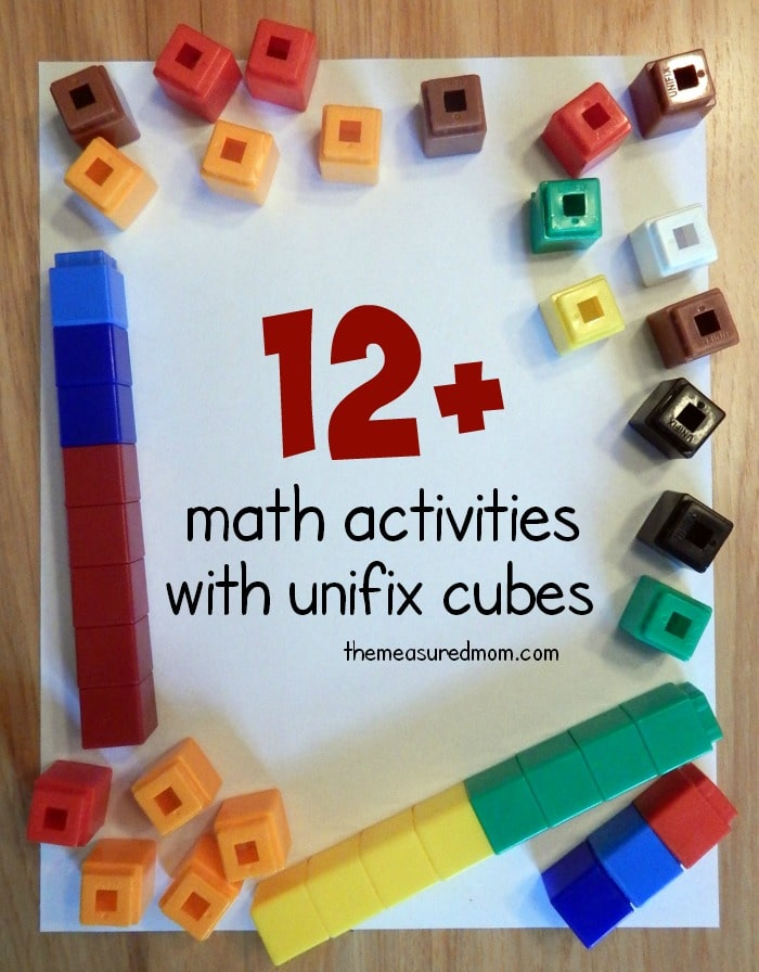 Math activities with unifix cubes The Measured Mom – Unifix Cubes Worksheets