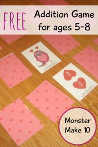 Monster Make 10 Addition Game (free)