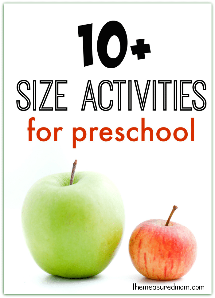 Check out our ten big and small activities for preschool - no printer ink required for these fun size activities!