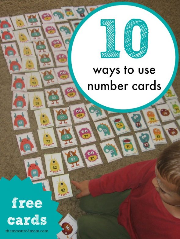 Make your own hundreds chart with these free monster number cards... and find other fun ways to use them!